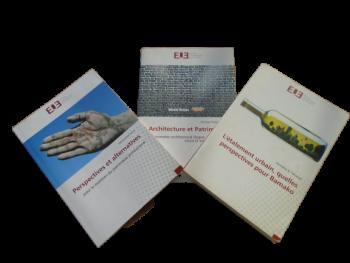 Trois ouvrages écrits par les étudiants architectes sortants de l'ESIAU et publiés par les Editions Universitaires Européennes